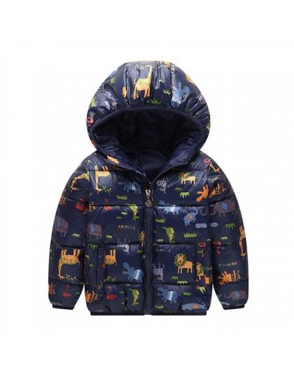Boys Baby kurtki 2019 jesienno-zimowa kurtka dla dzieci dziewczyny ciepły gruby płaszcz z kapturem dziecięca odzież wierzchnia 1