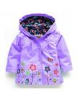 Jesień 2019 dziewczyny kurtki dziecięca odzież wierzchnia dla dziewczyn, z kapturem płaszcze wiatrówka na co dzień dla dziewczyn