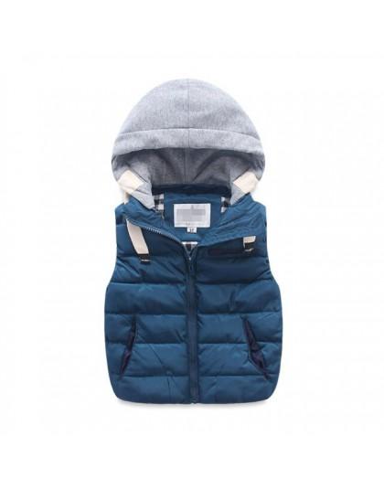 Dzieci ciepła podkoszulka dzieci bawełny wyściełane zagęścić kamizelka dzieci znosić kamizelka chłopiec i dziewczyny kurtka ubra