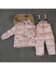 -30 ℃ orangemom rosja kurtka zimowa dla dziewczynek chłopcy płaszcze i odzież wierzchnia, ciepłe kaczki dół dzieci chłopiec ubra