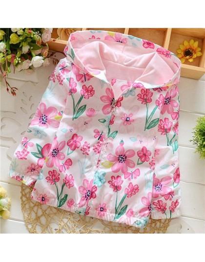 Wiosna 2018 nowa bawełna dziewczynek płaszcz spędzić trzy kwiaty Lollipops Dot kurtka Cardigan dzieci odzież jesień
