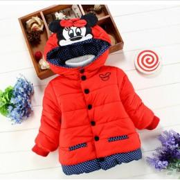 Duży rozmiar dziewczynek kurtki 2018 jesień zima kurtka dla dziewczynek zima Minnie płaszcz ubrania dla dzieci dzieci ciepłe kur