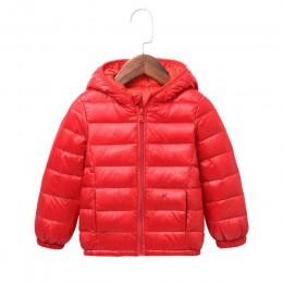 światło dla dzieci kurtki zimowe dla dzieci bawełna płaszcz puchowy dla dzieci dla dziewczynek parka bluzy wierzchnie z kapturem
