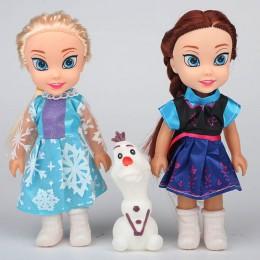 2017 2 sztuk księżniczka anna Elsa lalki dla dziewczynek zabawki księżniczka anna Elsa lalki dla dziewczynek zabawki 16cm małe p