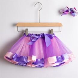 Spódniczka z Tutu spódniczka dla dziewczynki od 1 do 8 lat spódniczka pettiskirt princeska Party Dance Rainbow tiulowe spódnice
