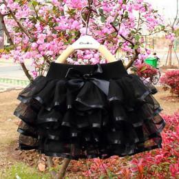 Tutu spódnica dziewczyny ciasto Tutu Pettiskirt taniec Mini spódnica urodziny księżniczka suknia dzieci ubrania dla dzieci 4 war