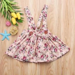 Dziewczyny plisowane pończoch spódnica z szelkami małe dziewczynki ubranie