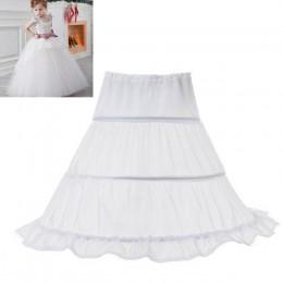 Biały tiul bufiasta spódnica mała dziewczynka akcesoria ślubne halka podkoszulek spódniczka tutu dla niemowlaków odzież dziecięc