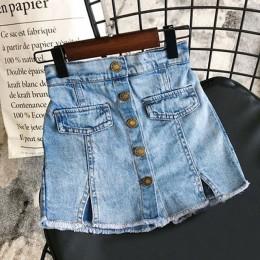 Bear Leader Girl spódnice Baby girl odzież letnia urocza dziecięca jeansowa spódniczka Modis Button spódnica jeansowa Culottes S