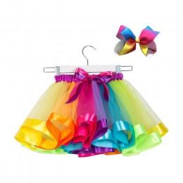 Bezpłatny łuk + spódniczka Tutu dziewczynek 12 M-8 T spódniczka pettiskirt princeska Rainbow dzieci spódnica Tutu dla dziewczyne