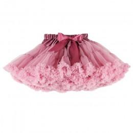 Buenos Ninos Girls Fluffy 2-18 lat szyfonowa halka jednolite kolory tutu spódnice dziewczyna spódnica do tańca boże narodzenie T