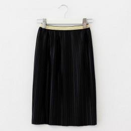 2018 aksamitna plisowana spódnica plisowana gładka długa spódnica letnia zima nowy dorywczo luźne dzieci wysokiej talii elastycz