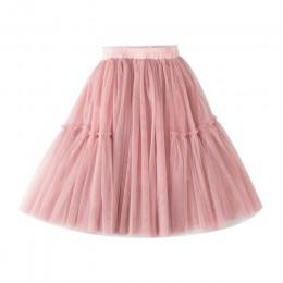 Lememogo letnie nowe spódniczki dziewczęce siatkowe bawełniane dziecięce spódnica z elastyczną talią dla dziewczynki średniej dł