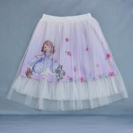 Dziewczyny maluch spódnice Cartoon jednorożec Tutu kucyk koń lukier Anna wydrukowana księżniczka koronkowa dziewczynka ubrania d