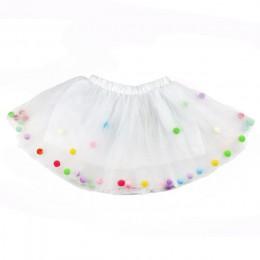 2019 letnie dziecko wielowarstwowa tiulowa spódnica tutu kolorowe Pom Pom księżniczka Mini sukienka dzieci odzież Pettiskirt dzi