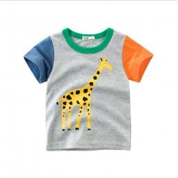 Letnia odzież dziecięca chłopięca koszulka bawełniana koszulka z krótkim rękawem koszulka dziecięca chłopięca na co dzień urocza
