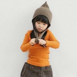 Jesień maluch dziecko T-shirt dla dzieci dziewczyny koszulka z długim rękawem topy miękkie stałe dzieci chłopcy koszulki cukierk