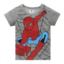 Nowe dziecięce koszulki z krótkim rękawem popularny bohater Spiderman nadruk supermana Baby Boy Tee koszulka dziecięca lato topy