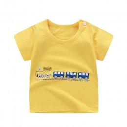 [Unini-yun] moda bawełna statek kosmiczny chłopcy dziewczęta t-shirty dzieci dzieci nadruk kreskówkowy t-shirty dziecko dziecko