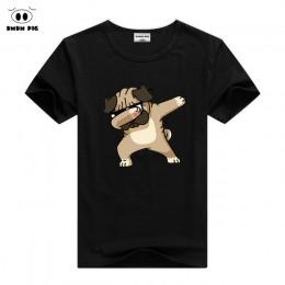 DMDM PIG dzieci lato T Shirt Dabbing śmieszne kreskówki z krótkim rękawem t-shirty dla chłopców dziewcząt topy dzieci Tshirt 2 3
