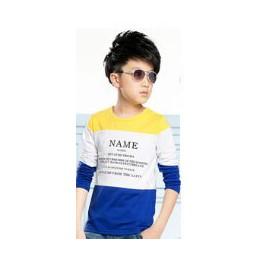 2020 moda dla dzieci wiosenne jesienne ubrania dla dzieci t-shirty dla chłopców koszulki z długim rękawem niebieski biały czerwo
