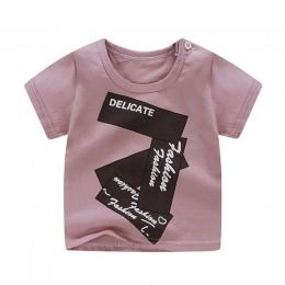 Nowonarodzone dziecko dzieci t-shirty dla dziewczynek chłopcy Tshirt lato bawełna kreskówka kwiat nadrukowana tęcza topy T-shirt