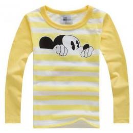 Chłopcy T Shirt dziewczyna Tshirt dzieci ubrania maluch T-Shirt top dziecięcy z długim rękawem maluch t-shirty dziecięce Tee dzi