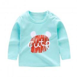 Unini-yun moda marka balon drukuj 2018 dzieci dziewczyna ubrania druku bawełny z długim rękawem t-shirty Rainbow dla dziewczynek