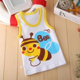 Baby Boy Girl letnia kamizelka T-Shirt dla dzieci Cartoon zwierząt bawełniane podkoszulki Tee T Shirt odzież dla dzieci rozmiar