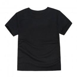 Chłopcy t-shirty dziewczyny proste bluzki dzieci z krótkim rękawem bawełniany koc koszulki ubrania drużynowe OEM ODM Tees ubrank