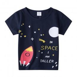Nadruk kreskówkowy Boys Baby T Shirt na lato dla dzieci chłopcy dziewczęta t-shirty ubrania bawełniane maluch topy maluch dziewc