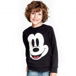 Nowe chłopięce dziewczęce Mickey T shirt wiosenne jesienne z długim rękawem rękaw Cartoon t-shirty dla dzieci Minnie Casual odzi