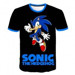 T-shirt młodzieżowy dziecięcy chłopięcy zabudowany pod szyję luźny przewiewny z krótkim rękawem
