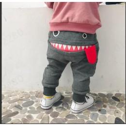 Odzież dla dzieci spodnie 2019 gorąca sprzedaż dla dzieci dzieci dla dzieci chłopcy dziewczęta śliczny rysunkowy rekin Tongue Ha