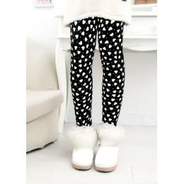 Spodnie dla dzieci jesienne zimowe legginsy dziecięce kolorowe nadruki kwiatowe motylkowe spodnie dziewczęce