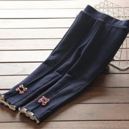 Nowe dziewczęce ciepłe spodnie zimowe dziecięce zagęścić znosić spodnie bawełniane kokardki dziecięce spodnie z polaru dziecięce