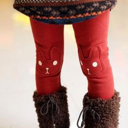 JXYSY dziewczęce legginsy na zimę spodnie dla dzieci bawełna jesień dzieci maluszek niemowlęcy grube polarowe ciepłe spodnie dla