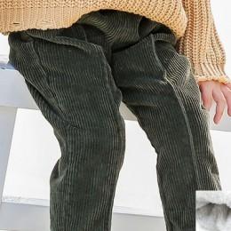 2020 spodnie dla dzieci sztruks dzieci zima jesień ubrania dziewczyny spodnie dla chłopców harem spodnie maluchy gruby ciepły po