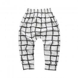 Chłopięce spodnie dla dziewczynek gorąca dostawa geometryczny wzór PP spodnie noworodka maluch Harem spodnie modne różne spodnie