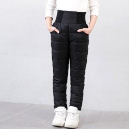 Dziecko dziewczynka chłopiec spodnie zimowe bawełna wyściełana gruba ciepłe spodnie wodoodporne spodnie narciarskie 10 12 lat el