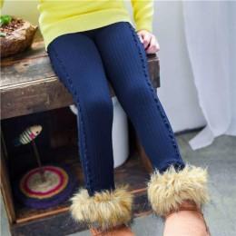 Grils legginsy jesienne zimowe dzieci wzburzyć spodnie dzieci zagęścić ciepłe w pasie bawełniane legginsy spodnie dziewczęce spo