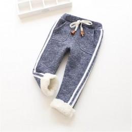 BibiCola winter warm plus aksamitne pogrubienie spodnie solidne spodnie dla dzieci maluch spodnie chłopięce dziewczęce spodnie s