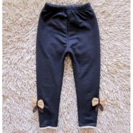 Nowa kokardka dziewczęca dżinsy bawełniane dziecięce kaszmirowe spodnie dziecięce ciepłe legginsy z elastyczną talią hurtowo i d