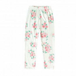 Słodkie dzieci drukowane legginsy dziewczyny wiosna letnie spodnie dla dzieci kwiat smukłe spodnie ołówkowe moda dziewczyny legg