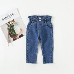2020 nowych dziewczynek wysokiej talii dżinsy dziecko jednolity kolor talii dżinsy dżinsy dziewczyny legginsy dziewczynka ubrani