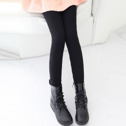 Grils spodnie dzieci dziania jesień zima kolorowe grube ciepłe dziewczyny legginsy