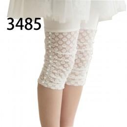 Wysokiej jakości 2019 letnie dziewczyny leginsy koronki bawełna dzieci odzież kwiat dziewczyna kolana spodnie