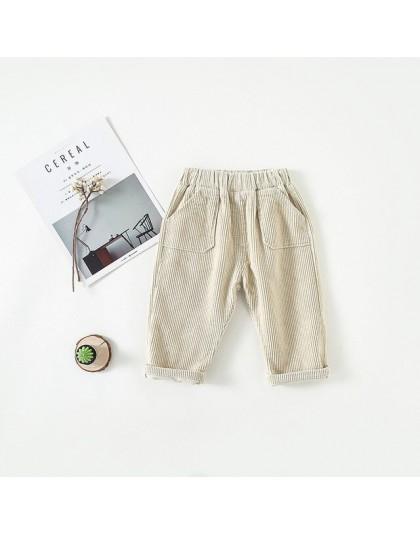 MILANCEL spodnie dla dzieci sztruksowe spodnie dla chłopców solidne spodnie z haremu dla dzieci odzież dla dziewczynek ciepłe sp