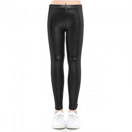 Spodnie dla niemowląt dla dziewczynek legginsy dla dzieci spodnie dla dzieci ołówek spodnie Faux PU skórzane Legging spodnie sli