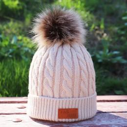 Dziecięca jesienno-zimowa dzianina bawełniana czapki ciepły i wygodny kask narciarski solid color fashion boy girl uniwersalne c